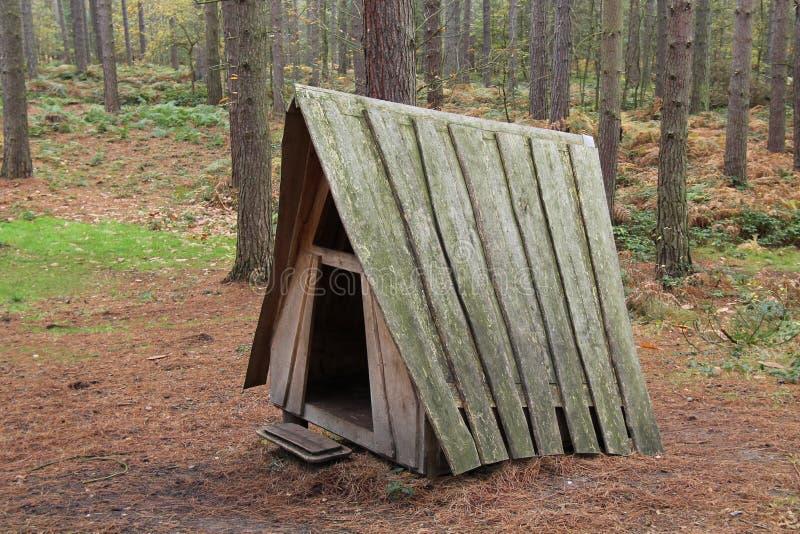 Деревянное укрытие игры стоковое фото