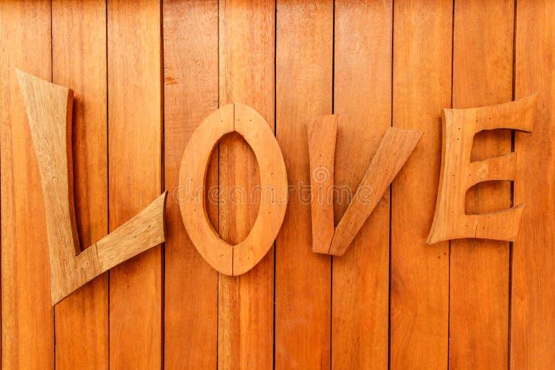 Деревянное любовное письмо стоковое изображение rf