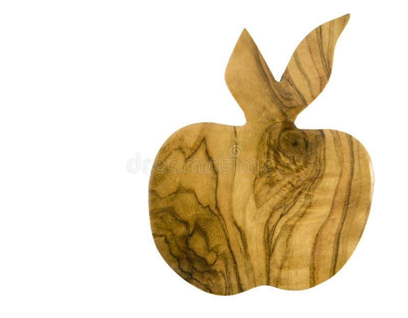 Деревянное яблоко стоковые фото