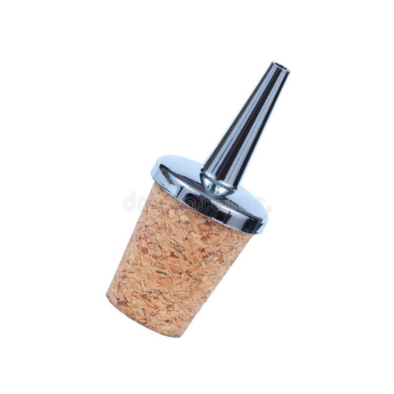 Деревянное pourer пробочки изолированное на белизне стоковые фото