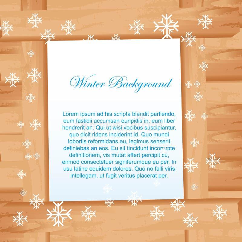 Деревянно с снежинками бесплатная иллюстрация