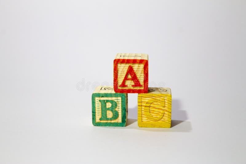 Деревянные блоки алфавита стоковое фото