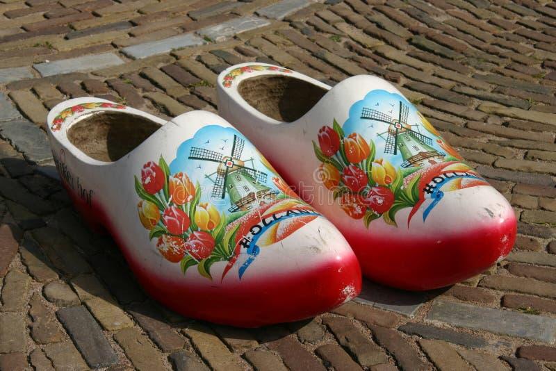 Деревянные ботинки стоковая фотография rf
