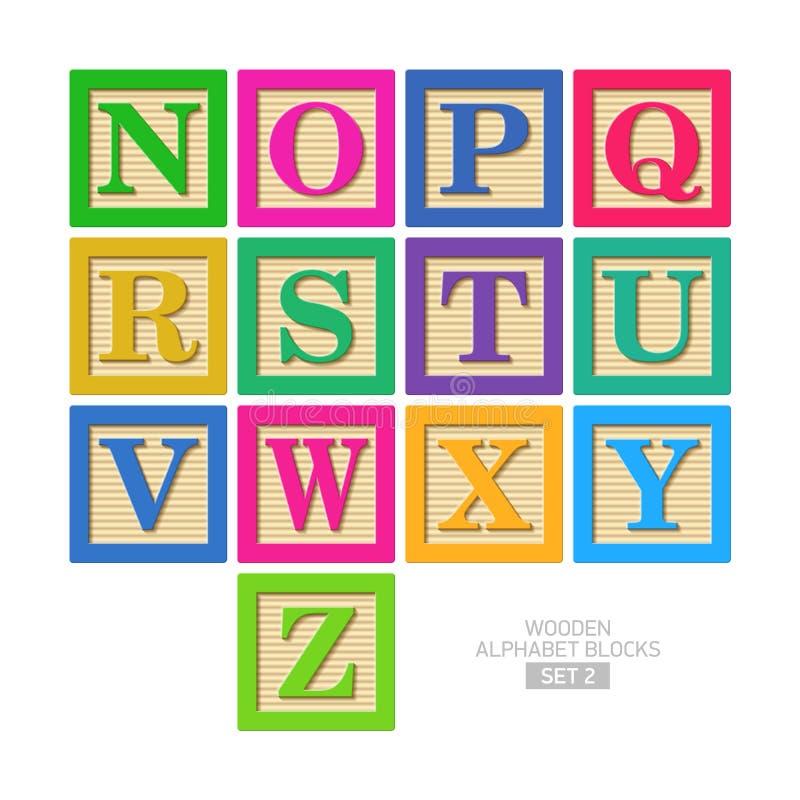 Деревянные блоки алфавита бесплатная иллюстрация