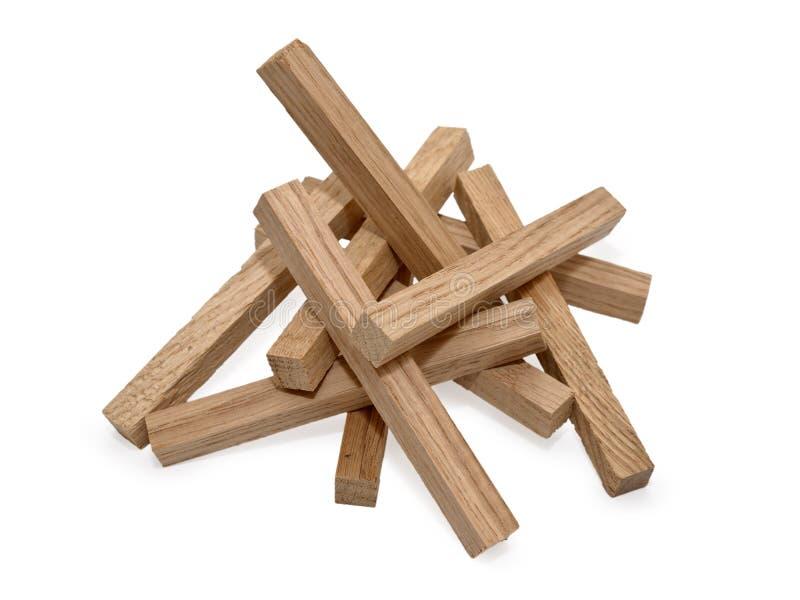 Деревянные блоки изолированные на белой предпосылке стоковое изображение rf
