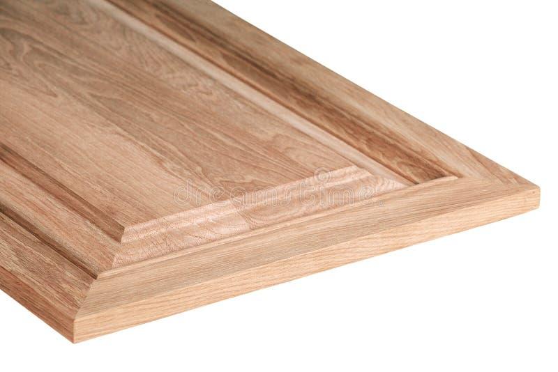 Деревянные двери шкафа изолированные на белой предпосылке стоковая фотография rf