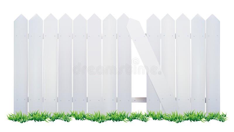 Деревянные загородка и трава стоковая фотография rf