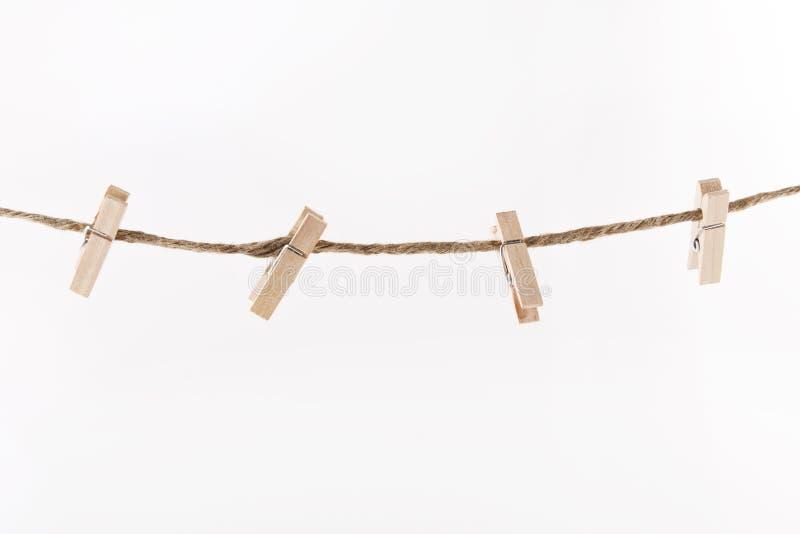 Деревянные зажимки для белья стоковые фотографии rf