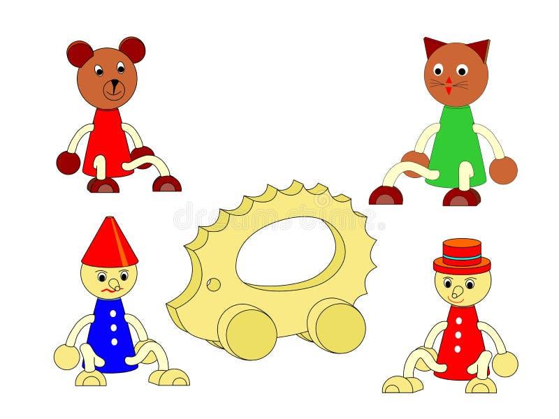 Деревянные игрушки стоковые изображения