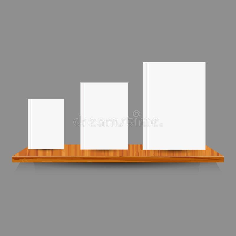Деревянные изолированные полки Иллюстрация вектора, EPS10 стоковая фотография
