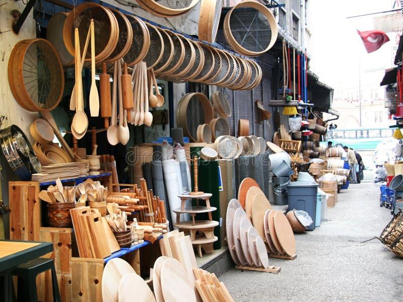 Деревянные инструменты кухни стоковая фотография