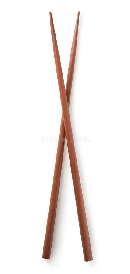 Деревянные китайские ручки стоковое изображение rf
