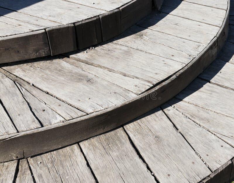Деревянные лестницы, конец вверх стоковое фото rf