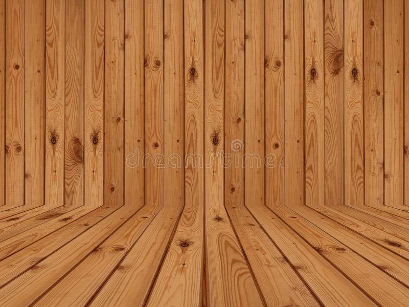 Деревянные настил и стена стоковое фото rf
