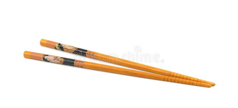 Деревянные палочки изолированные на белой предпосылке стоковые фотографии rf