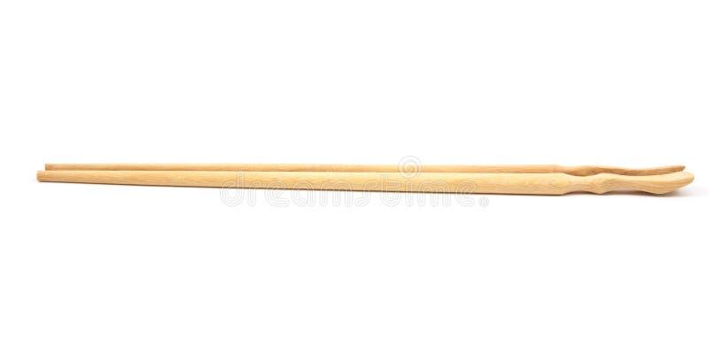 Деревянные палочки на белизне стоковая фотография rf