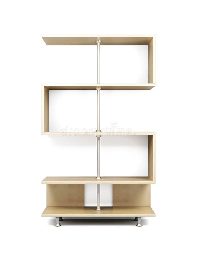 Деревянные полки на шкафе хрома 3d бесплатная иллюстрация