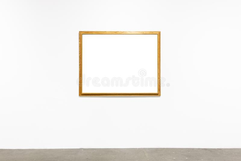 Деревянные рамки на белой предпосылке стоковое фото