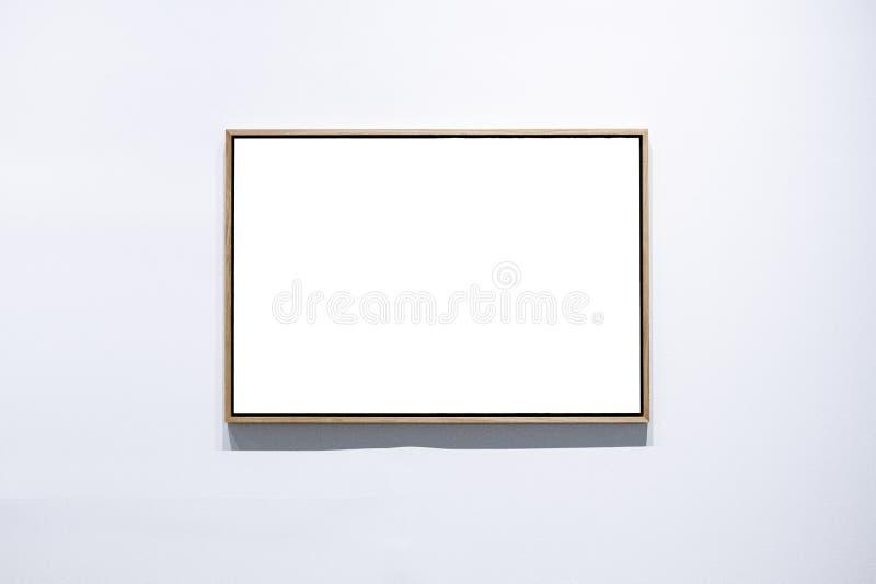 Деревянные рамки на рамках предпосылки белизны на белой предпосылке стоковые изображения