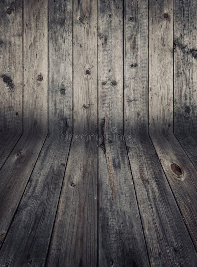 Деревянные стена и настил стоковое фото