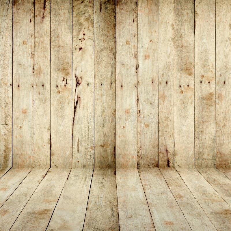 Деревянные стена и пол стоковое фото rf