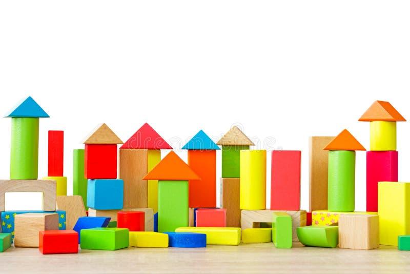 Деревянные строительные блоки стоковое фото