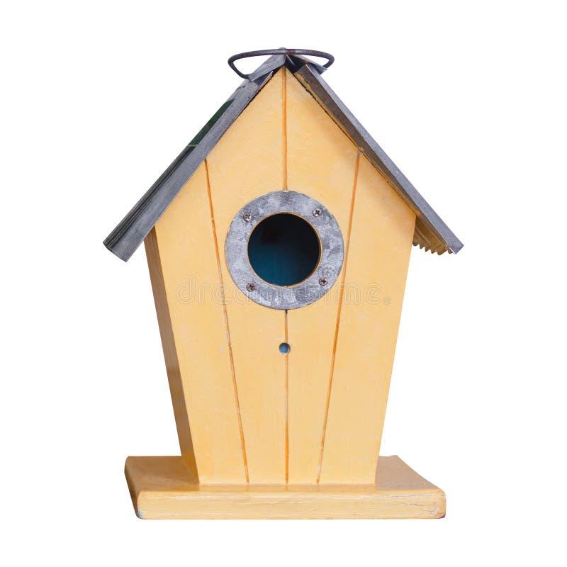 Деревянные birdhouses на белизне стоковые фото