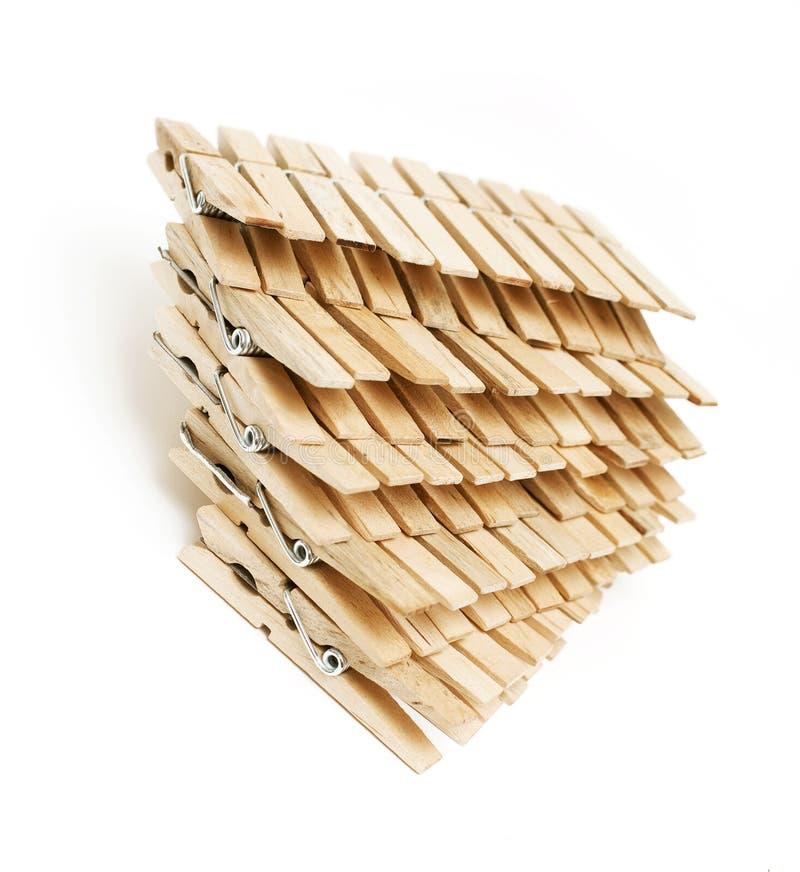 Деревянные clothespins стоковое фото rf