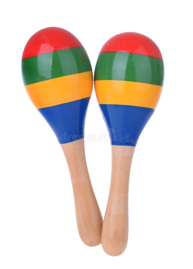 Деревянные maracas игрушки стоковая фотография
