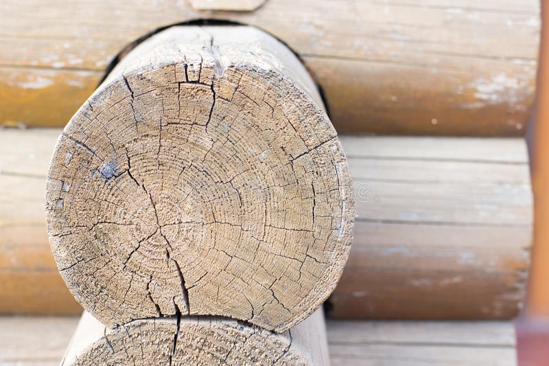 Деревянный блокгауз стоковые изображения rf
