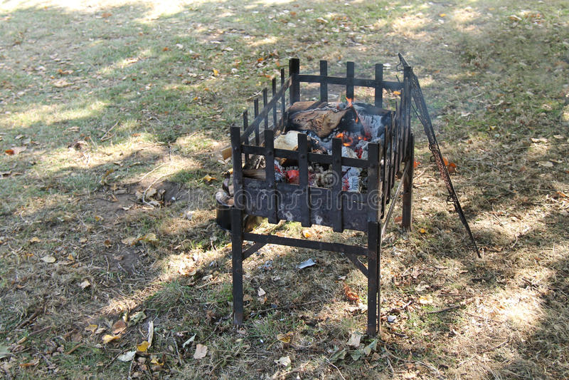 Деревянный варя огонь стоковые изображения rf