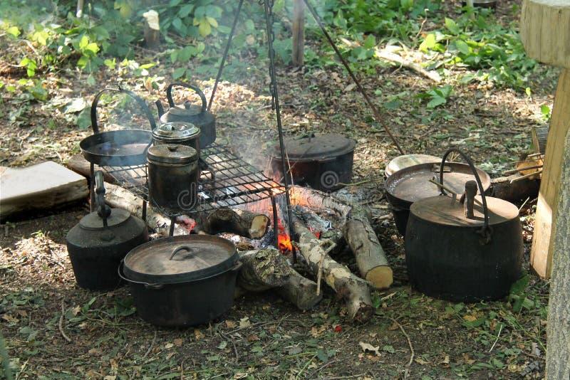 Деревянный варя огонь стоковое фото
