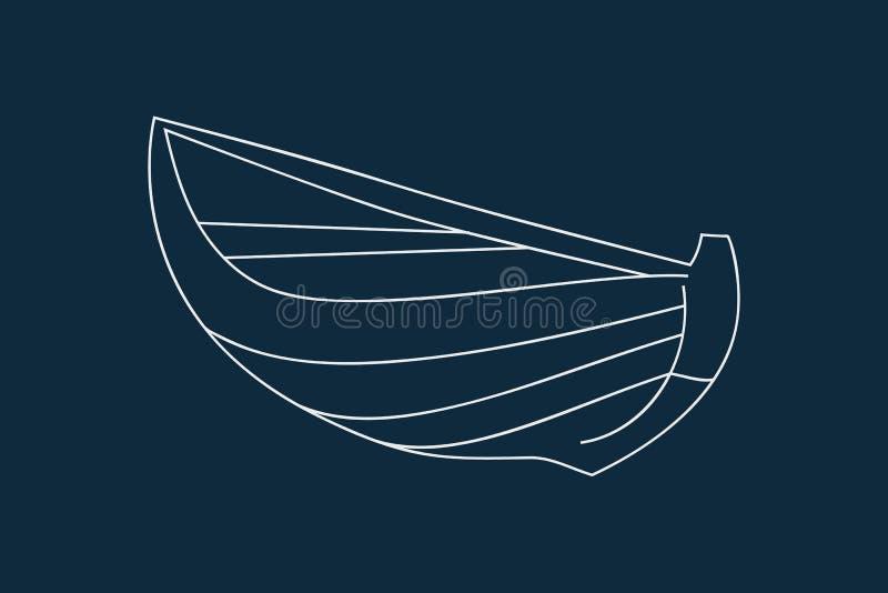 Деревянный вектор значка шлюпки иллюстрация вектора
