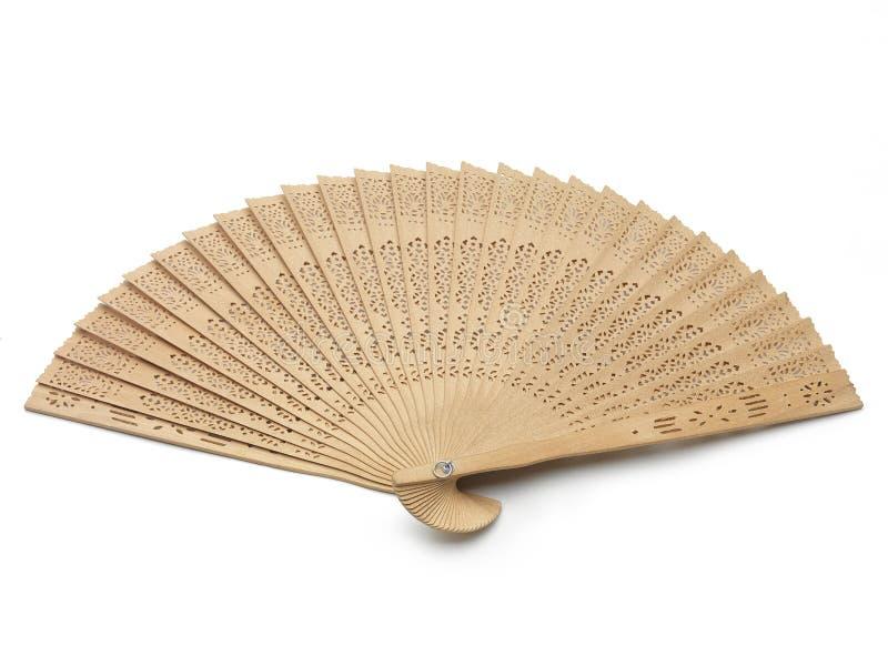 Деревянный вентилятор стоковые фото