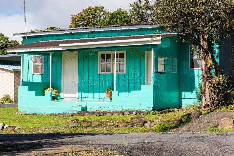 Деревянный дом вызвал cabana Boquete стоковое фото rf