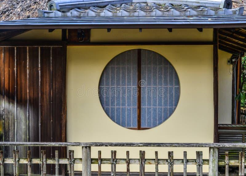 Деревянный дом в Киото, Японии стоковое изображение