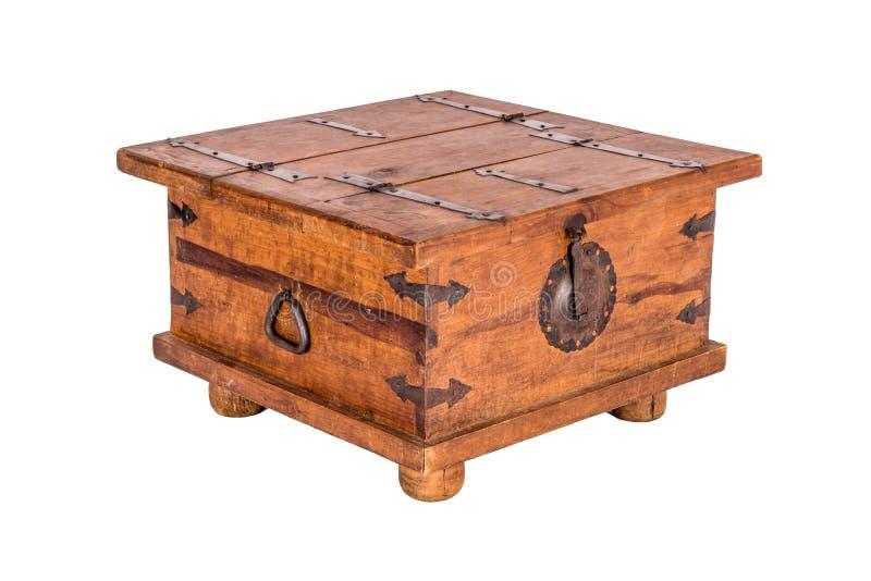 Деревянный журнальный стол комода стоковые изображения rf