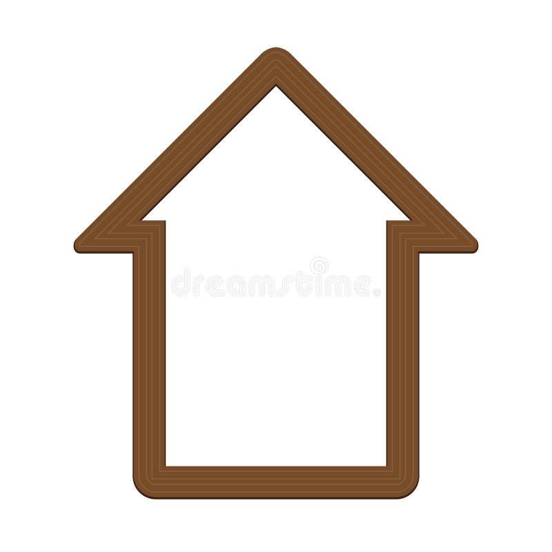 деревянный значок дома бесплатная иллюстрация