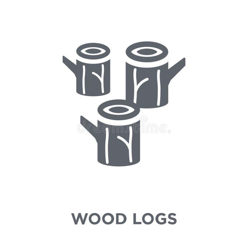 деревянный значок журналов от collectio земледелия, обрабатывать землю и садовничать иллюстрация штока