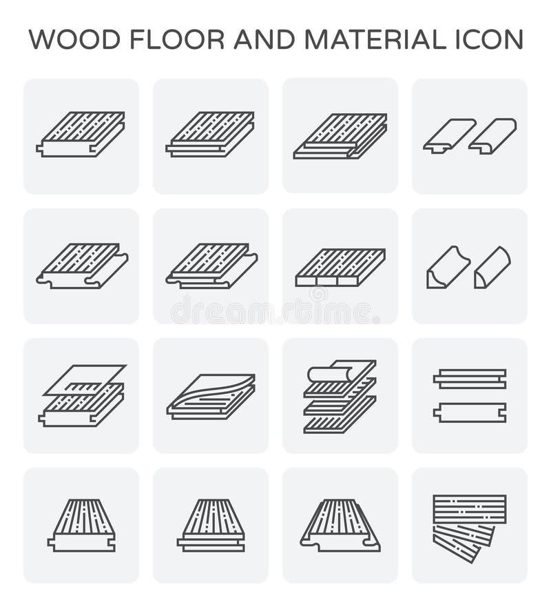 Деревянный значок пола иллюстрация штока