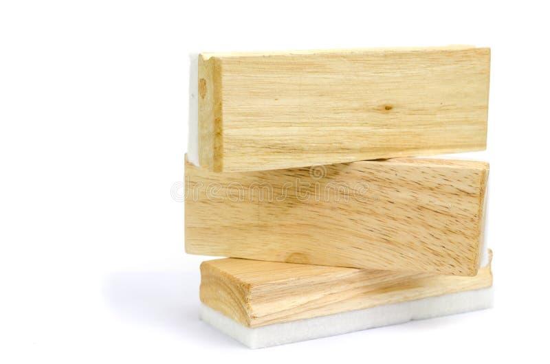 Деревянный изолированный ластик стоковые фотографии rf