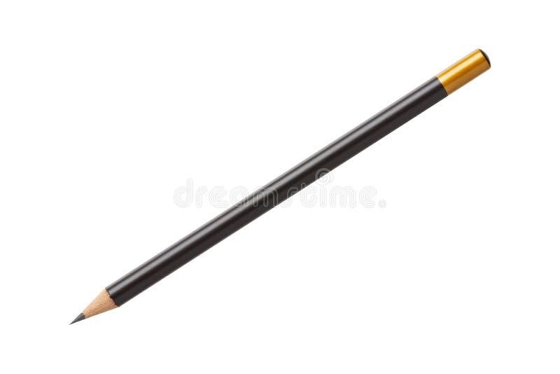Деревянный изолированный карандаш стоковое изображение