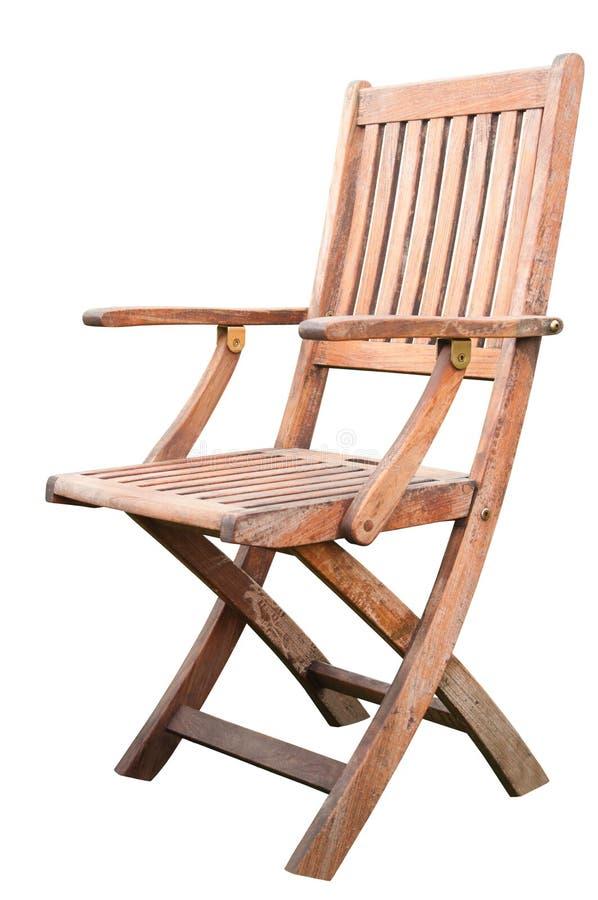 Деревянный изолированный стул стоковые фотографии rf