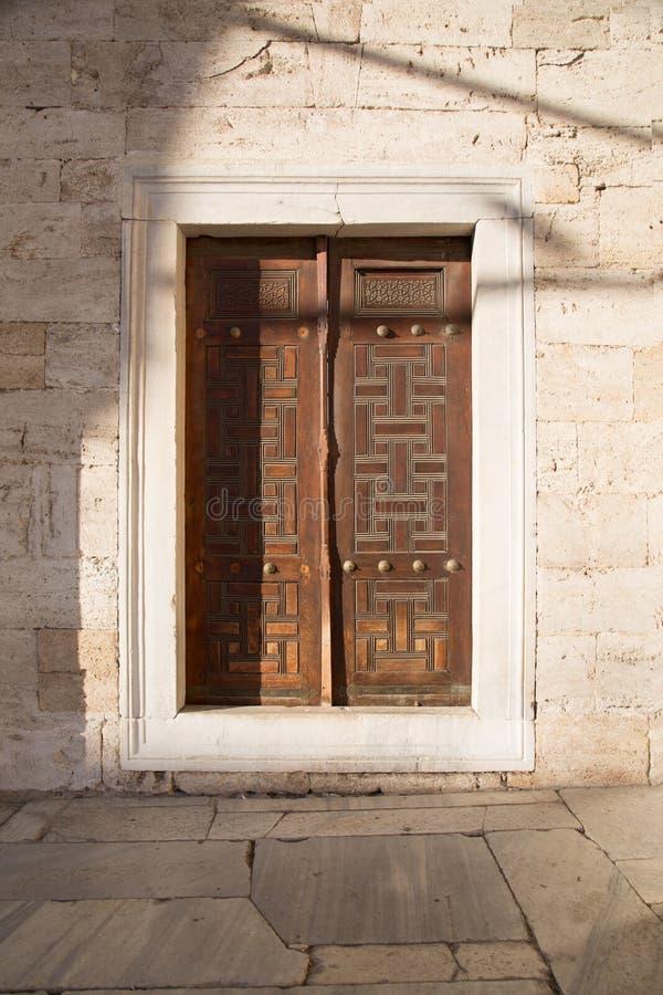 Деревянный индюк Стамбула дверей стоковые изображения rf