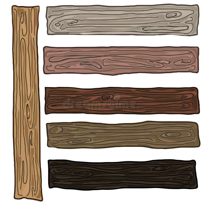 Деревянный комплект цвета образцов с различными заводами иллюстрация штока