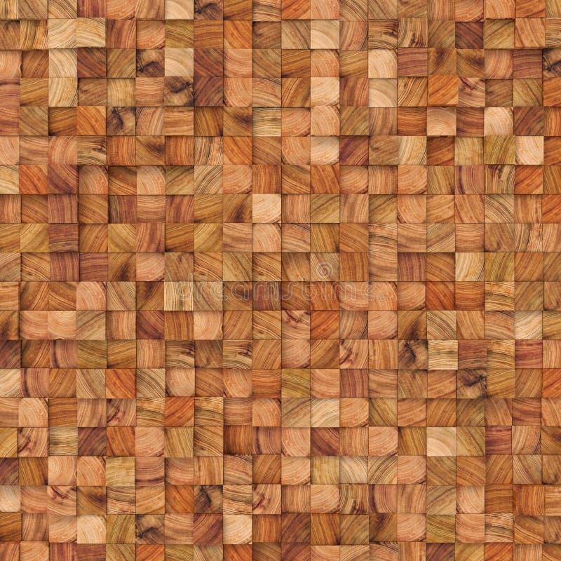Деревянный конспект придает квадратную форму фону 3d представляя геометрические полигоны иллюстрация штока