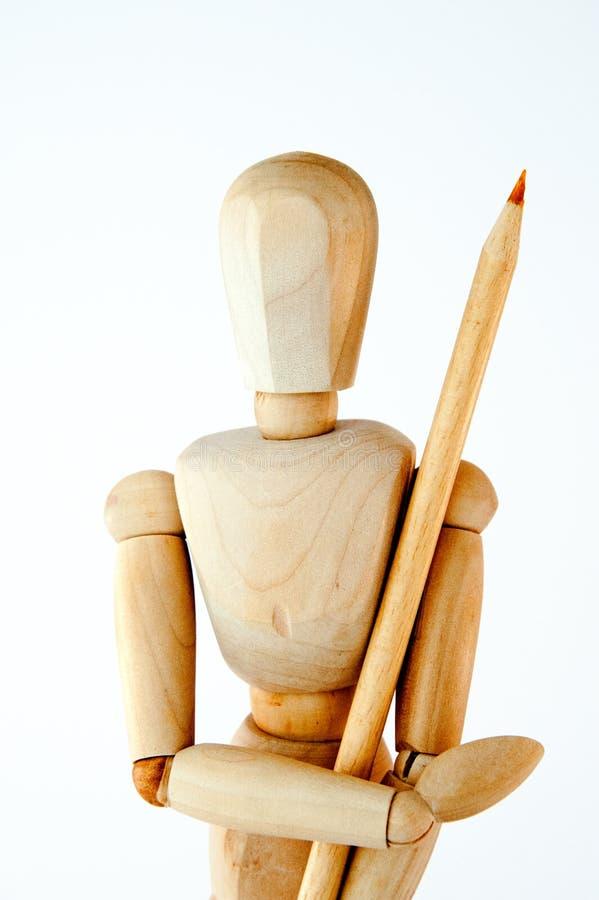 Деревянный манекен стоковое фото