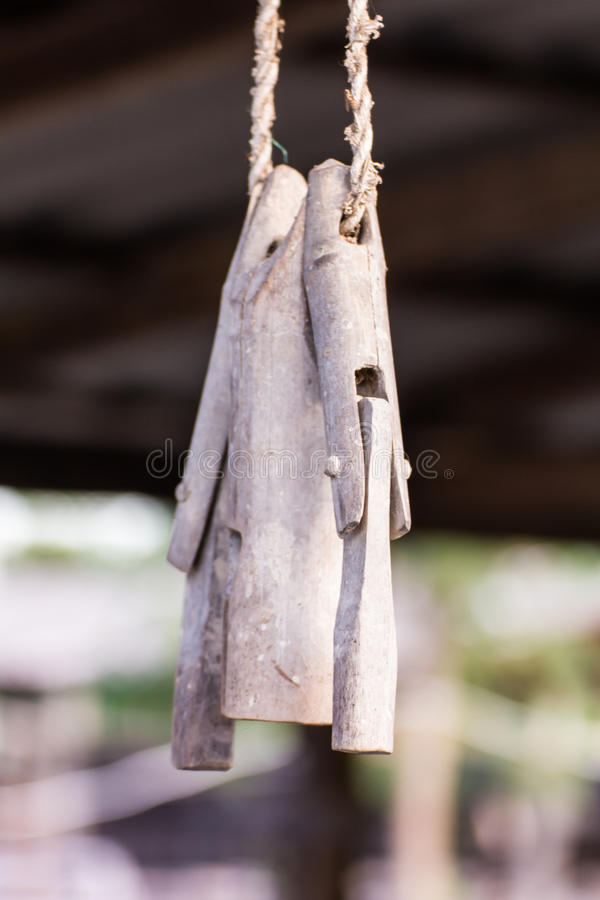 Деревянный малый колокол для baffalo стоковая фотография
