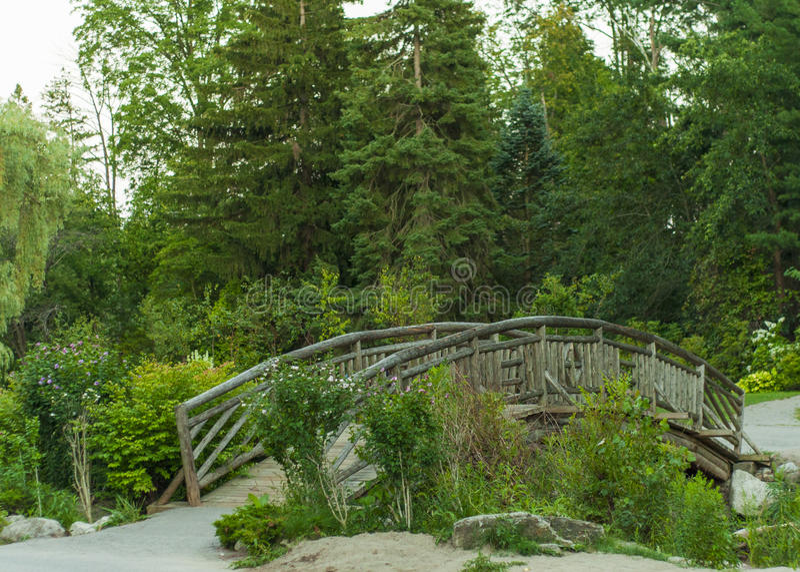 Деревянный мост, малый мост стоковая фотография rf