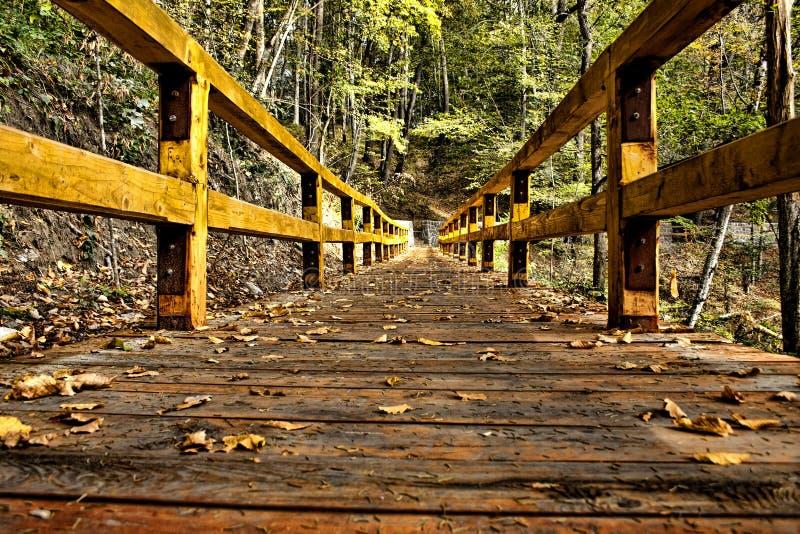 Деревянный мост HDR стоковая фотография